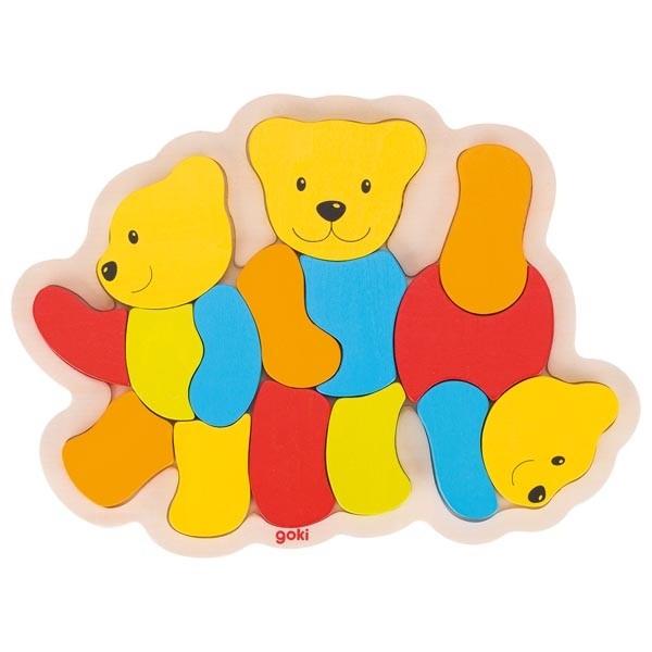 Puzzle din lemn Trei Ursuleti 0