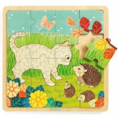 Puzzle incastru de lemn - Jungla animalelor 1