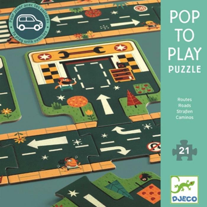 Puzzle gigant Drumuri - Traseu masinute [0]