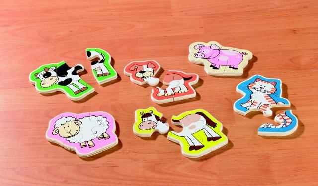 Puzzle lemn Animale Prietenoase 1