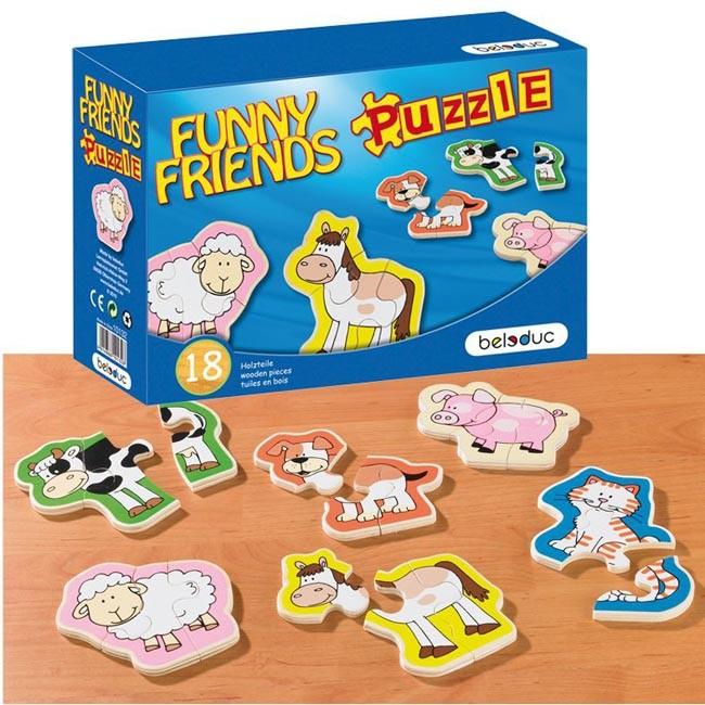 Puzzle lemn Animale Prietenoase 0