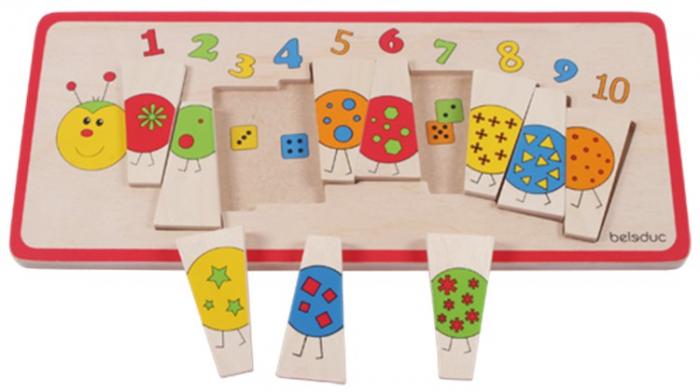 Puzzle lemn Omida cu Numere 0