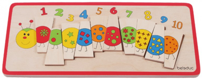 Puzzle lemn Omida cu Numere 1