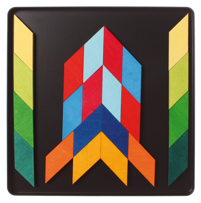 Puzzle magnetic Square Indian 3