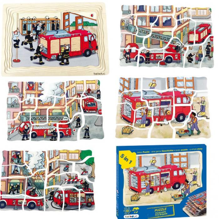 Puzzle stratificat Brigada de Pompieri 5