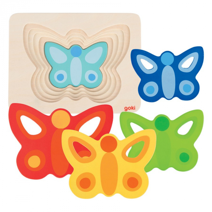 Puzzle incastru Fluturasi colorati [0]