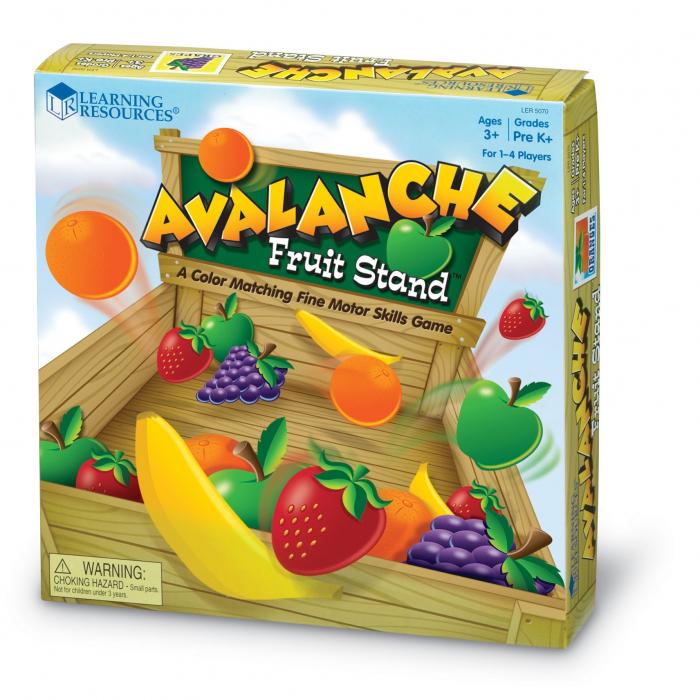 Avalansa de fructe - set educativ 4