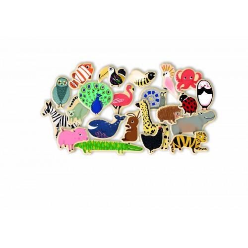 Joc magnetic cu animale - Multicolor 0