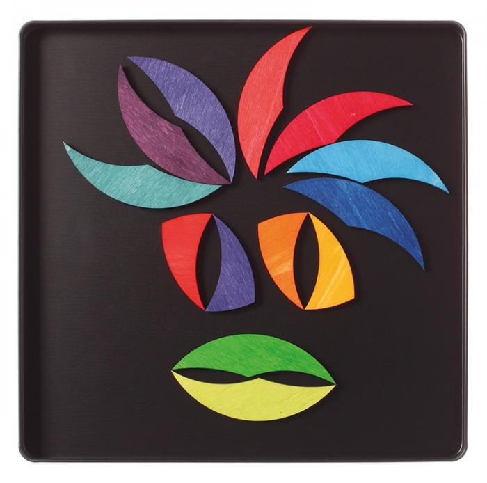 Roata curcubeu- puzzle magnetic 4