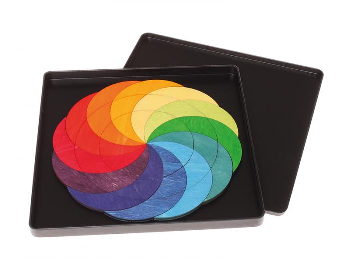 Roata curcubeu- puzzle magnetic 1