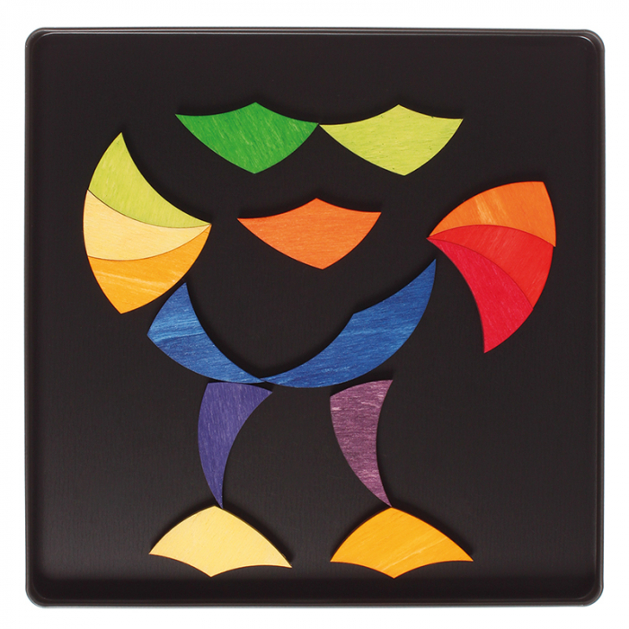 Roata curcubeu- puzzle magnetic 5