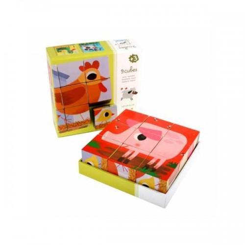 Cuburi de lemn - Animale PiouPiou 1