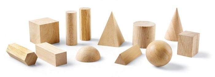 Set 12 figuri geometrice de lemn [2]