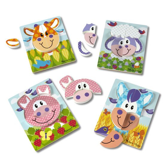Set 4 puzzle Animale domestice 0