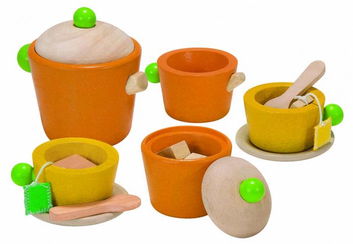 Set colorat pentru servit ceaiul 0