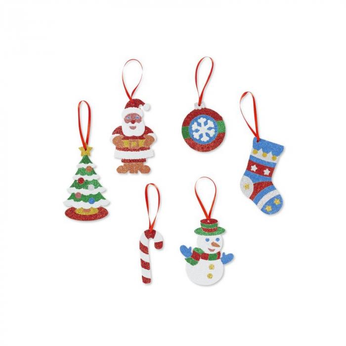 Set creatie cu sclipici Ornamente de Craciun Melissa and Doug 0