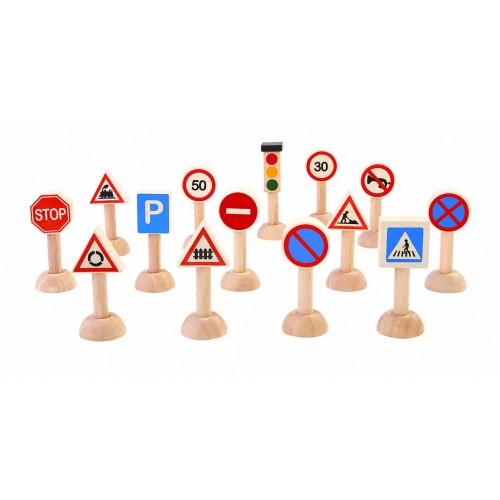 Set cu semne rutiere de jucarie 0