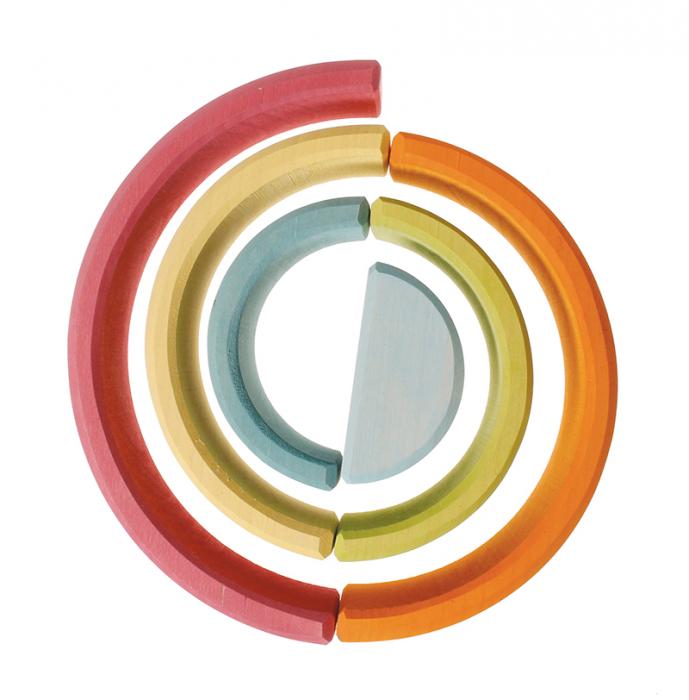 Set curcubeu 6 piese pastel 1