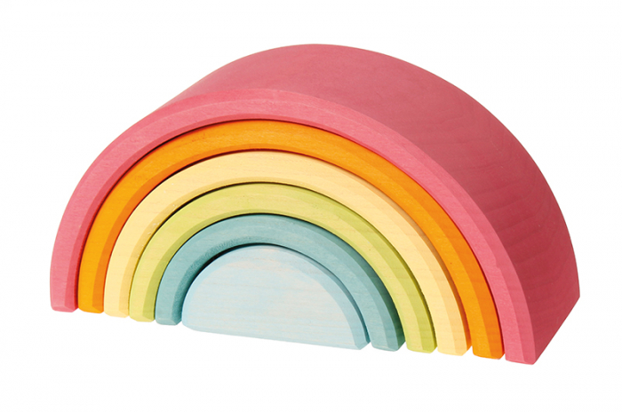 Set curcubeu 6 piese pastel 0