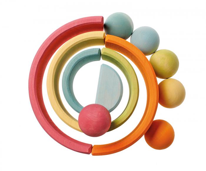 Set de 6 bile mari pastel 3