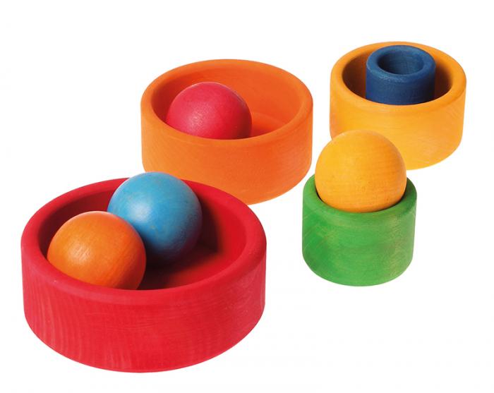 Set de boluri multicolor - SPIEL GUT 2