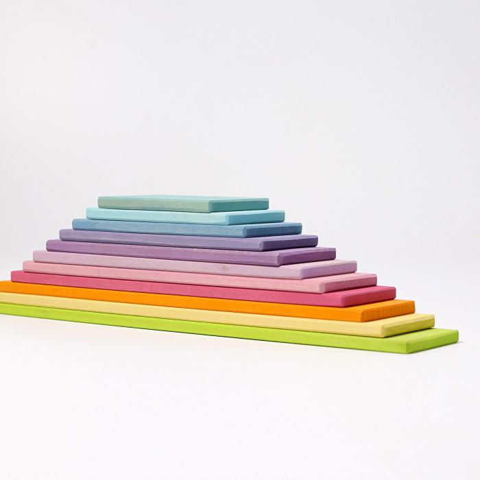 Set de constructie cu 11 placi model pastel 0