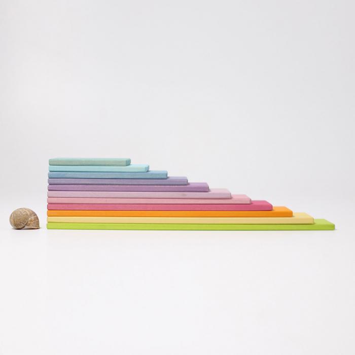 Set de constructie cu 11 placi model pastel 8