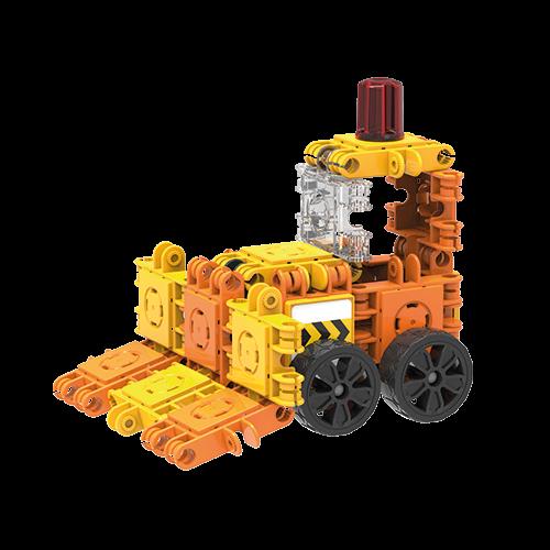 Set de construit Clicformers- Mini set cu vehicule de santier 3