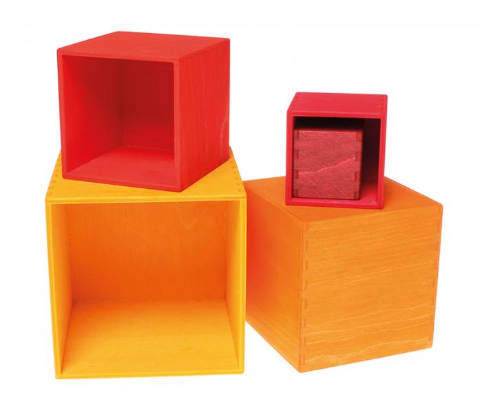 Set de cutii colorate galben 2