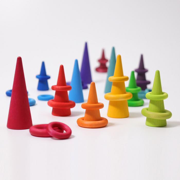 Set de ineluse colorate curcubeu 3