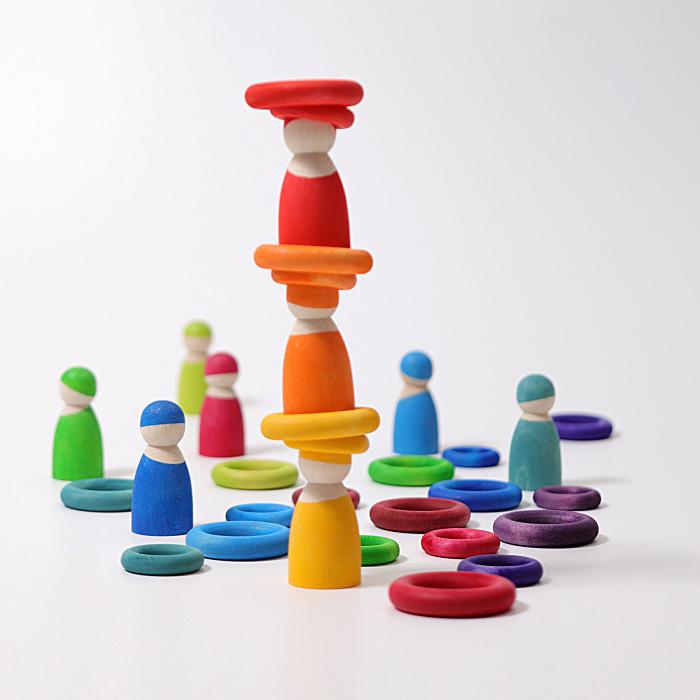 Set de ineluse colorate curcubeu 2