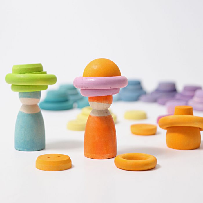 Set de ineluse colorate pastel 3