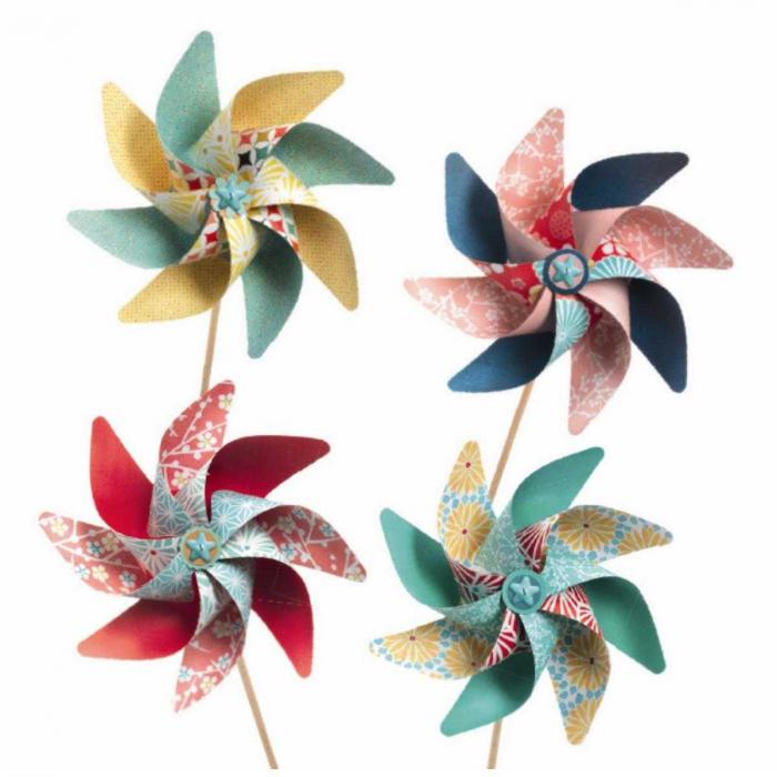 Set DIY - moristi de vant modele cu flori 2
