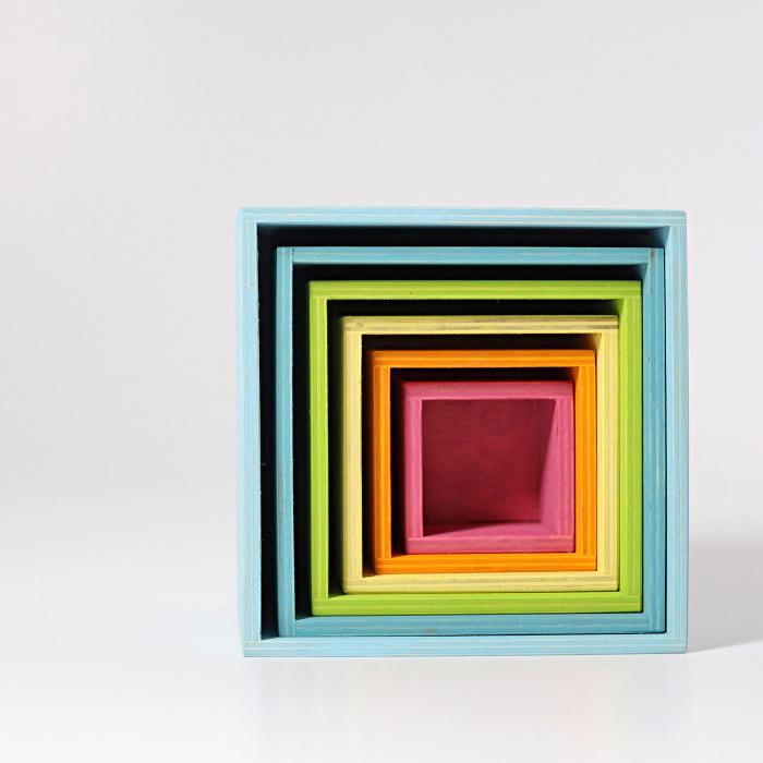 Set mare de cutii colorate pastel [9]