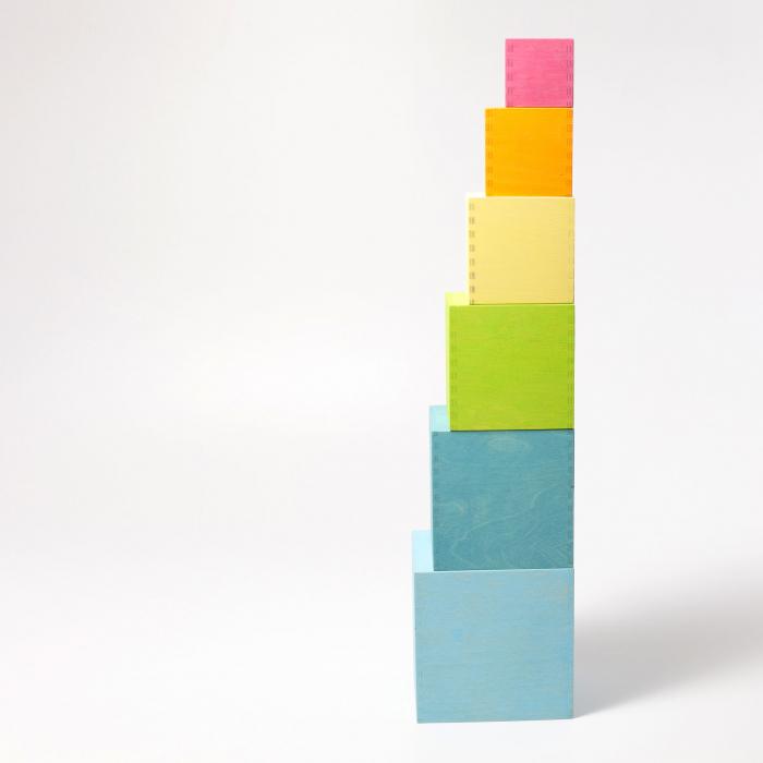 Set mare de cutii colorate pastel [6]