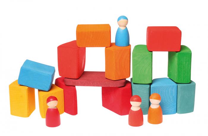 Set Waldorf de constructie cu 15 forme neregulate 2