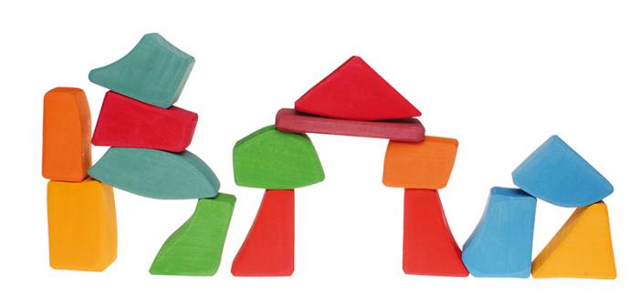Set Waldorf de constructie cu 15 forme neregulate 3