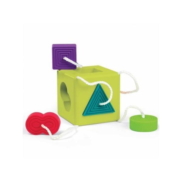 Sortator de forme pentru bebelusi OombeeCube Fat Brain Toys [0]