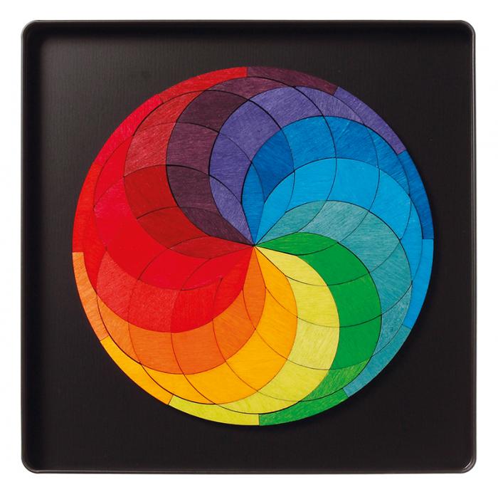 Spirala culorilor - puzzle magnetic 0