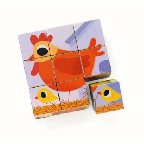 Cuburi de lemn - Animale PiouPiou 2