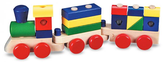 Trenulet din lemn de stivuit 0