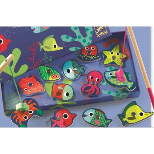 Joc de pescuit magnetic pesti colorati 1