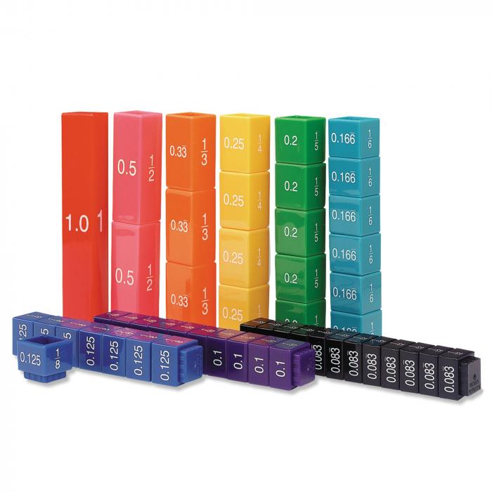 Turnul fractiilor - cuburile echivalentei - set educativ 0