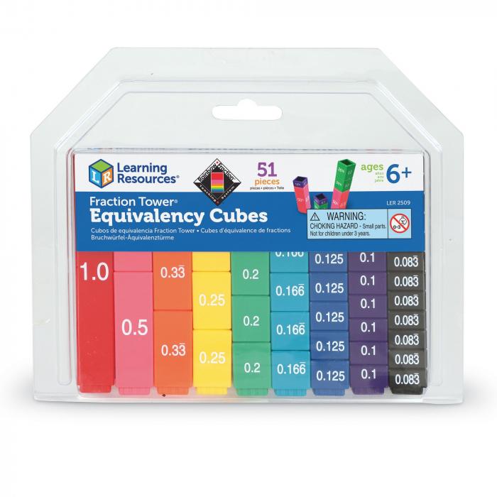 Turnul fractiilor - cuburile echivalentei - set educativ 3