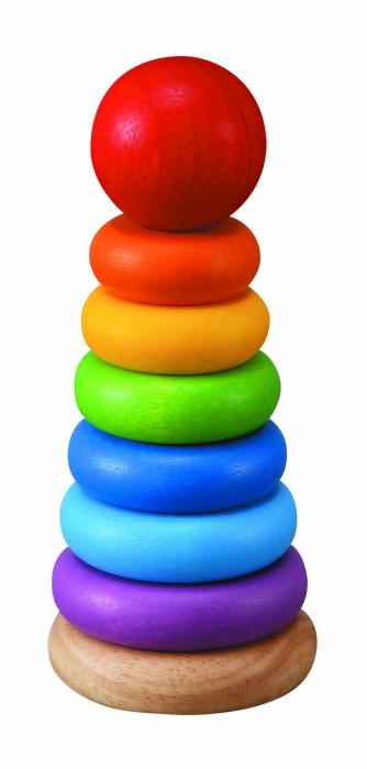Turnulet pentru stivuit cu inele colorate 0