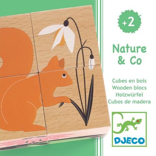 Cuburi din lemn Natura 1