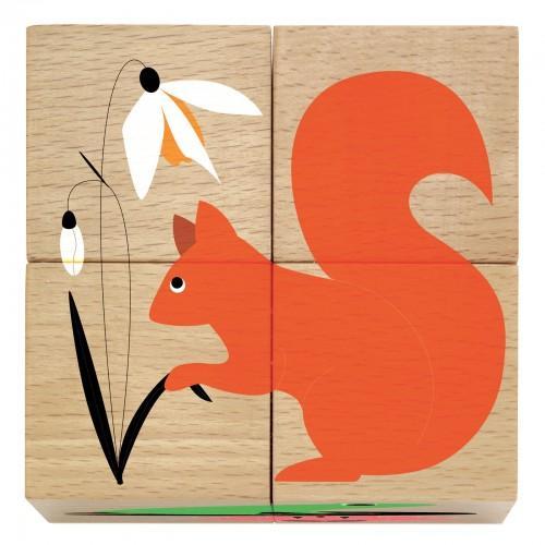 Cuburi din lemn Natura 0