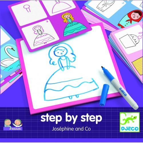 Deseneaza pas cu pas - Editie pentru fete 1