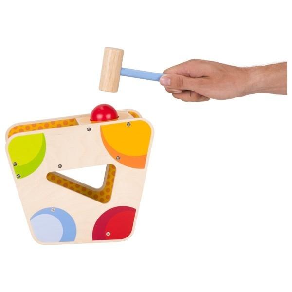 Xilofon din lemn cu ciocan si bile [1]