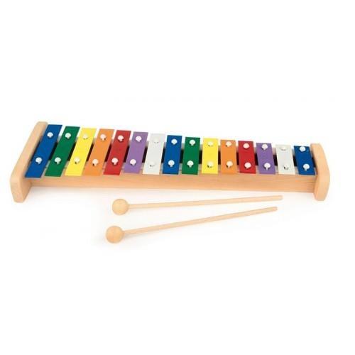Xilofon de lemn cu 15 note 0